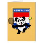 Panda holandesa del tenis felicitaciones