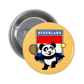 Panda holandesa del tenis pin