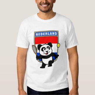 Panda holandesa del tenis playera