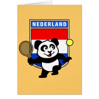 Panda holandesa del tenis tarjeta de felicitación