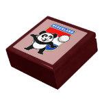 Panda holandesa del voleibol caja de joyas