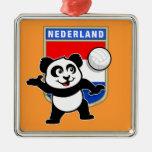 Panda holandesa del voleibol ornamentos para reyes magos