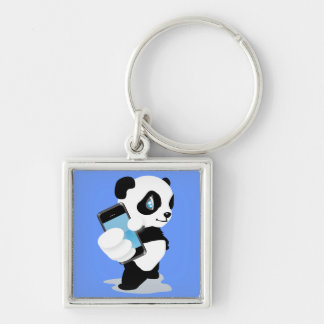 Panda holding an iPhone Keychain