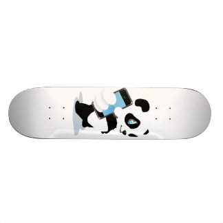 Panda holding an iPhone Skate Boards