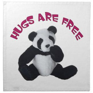 Panda hug American MoJo Napkin