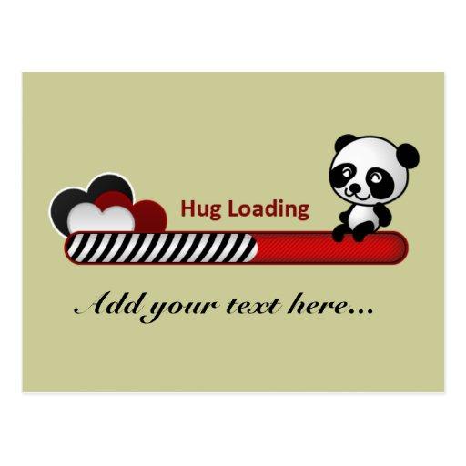 Panda Hug Loading Postcard