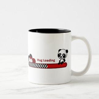 Panda Hug Loading Two-Tone Coffee Mug