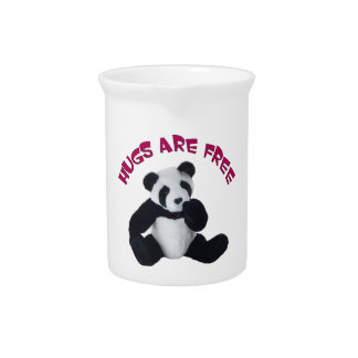 Panda hug Pitcher 19oz.