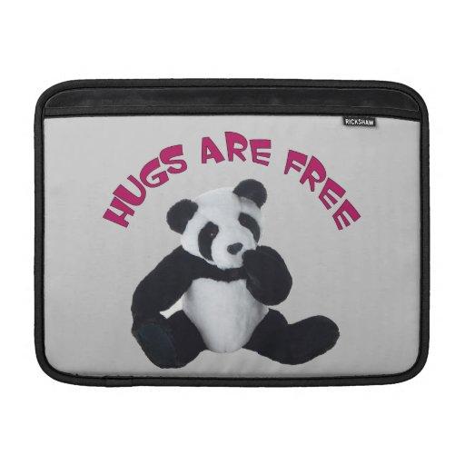Panda hug Rickshaw Sleeve MacBook Air Sleeves