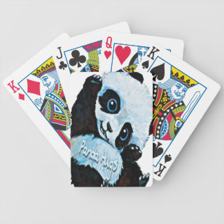 Panda Hugs Bicycle Playing Cards
