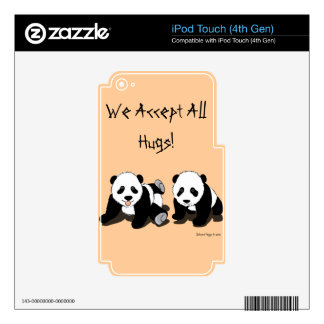 Panda Hugs Decals For iPod Touch 4G