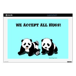 Panda Hugs Decal For Laptop