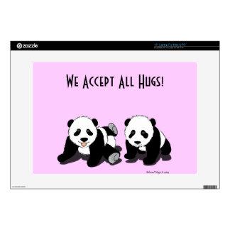 Panda Hugs Laptop Skin