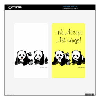 Panda Hugs Skin For Kindle Fire