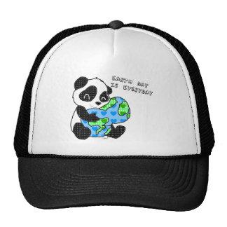 Panda hugs the earth / earthday trucker hat