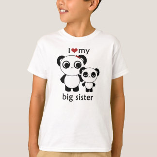 Panda - I love my big sister T-Shirt