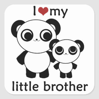 Panda - I love my little brother - sticker