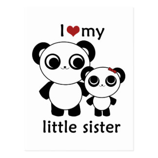 Panda - I love my little sister Postcard