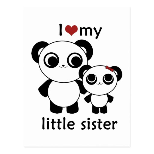 Panda - I love my little sister Post Cards