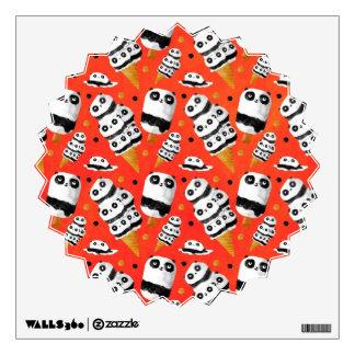 Panda Ice Cream Pattern Wall Decal