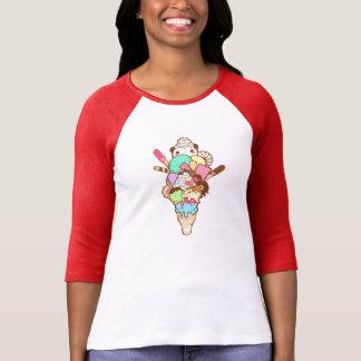 Panda Ice Cream Stack T-Shirt