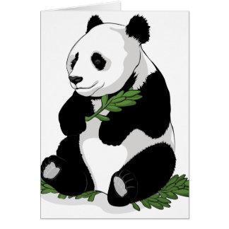 Panda Illustration Card