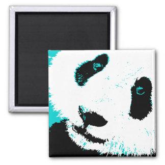 panda. imán cuadrado