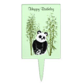 Panda in Bamboo Cake Topper