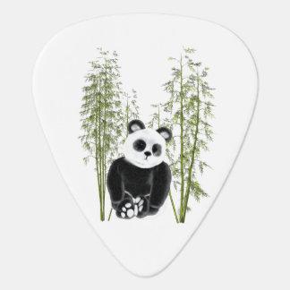 Panda in Bamboo Guitar Pick