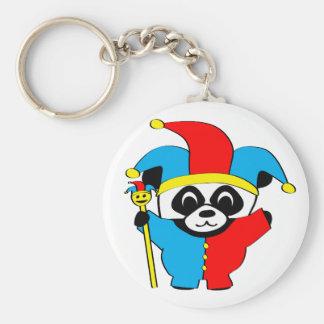 Panda in Jester Costume Keychain