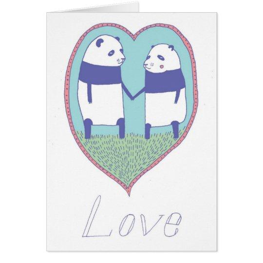 Panda In Love Card