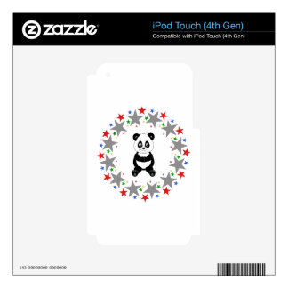 Panda in Stars Skin For iPod Touch 4G