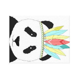 Panda in style canvas print