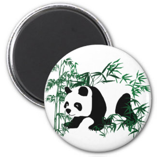 Panda in the Bamboo Forest 2 Inch Round Magnet