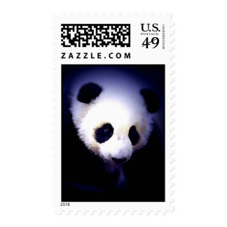 Panda in the Blue Night Postage