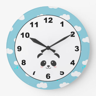 Panda in the Clouds Wall Clock