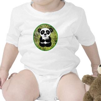 Panda In the Grass T Shirts