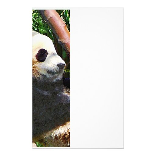 Panda in Tree Personalized Stationery