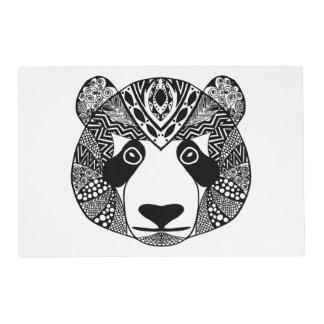 Panda inspirada salvamanteles