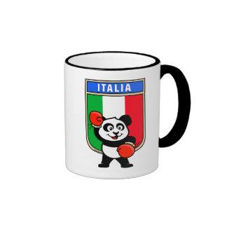 Panda italiana del boxeo taza de dos colores