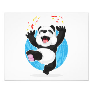 Panda Jumping in Excitement Full Color Flyer