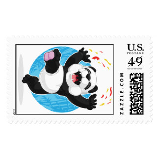 Panda Jumping in Excitement Stamps