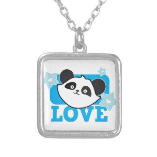 ¡Panda Kawaii lindo estupendo del AMOR! NP Collar Plateado