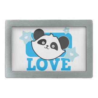 ¡Panda Kawaii lindo estupendo del AMOR! NP Hebillas De Cinturon Rectangulares