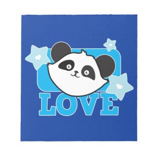 ¡Panda Kawaii lindo estupendo del AMOR! NP Libreta Para Notas