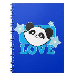 ¡Panda Kawaii lindo estupendo del AMOR! NP Libro De Apuntes