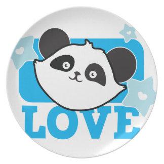 ¡Panda Kawaii lindo estupendo del AMOR! NP Plato De Comida