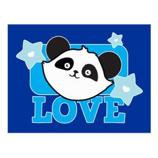 ¡Panda Kawaii lindo estupendo del AMOR! NP Postal