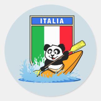 Panda Kayaking de Italia Pegatina Redonda