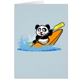 Panda Kayaking Tarjeta De Felicitación